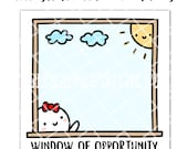 """3x3"""" Window of Opportunity Sticky Notes 25 Pages (Sticky Note - WINDOW)"""