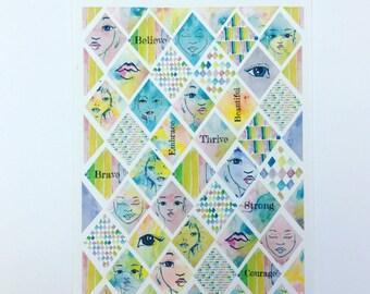 Beautiful Me - planner/journal stickers (diamond stickers)