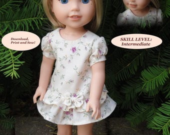 Doll Clothes PDF Pattern for 14.5'' Wellie Wishers American Girl by NVME WW-24