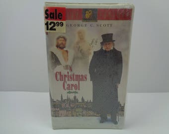 A Christmas Carol George C. Scott VHS tape New