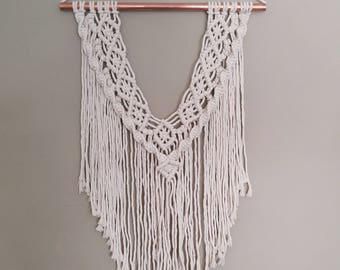 Macrame and Copper Wall Hanging