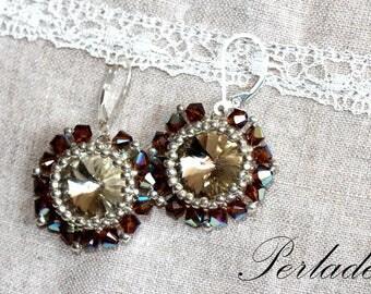 Swarovski rivoli and 925 silver earrings!