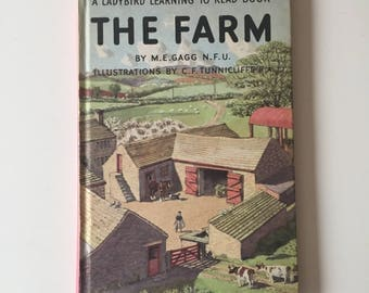 Vintage Retro Rare 1950s 50s Ladybird childrens kids book - The Farm 1958