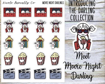 Movie Night Darlings Planner Stickers