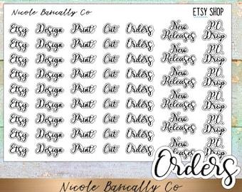 Etsy Shop Owner Script Planner Stickers