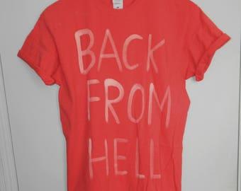 Tie Dye T-Shirt  acid wash T-shirt hipster Back from Hell 90s punk dip dye unisex rave indie trash Galaxy men women top