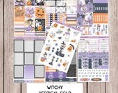 WITCHY Halloween Planner Stickers | perfect for VERTICAL Erin Condren Life Planner ECLP-V9