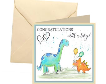 New baby boy card, new baby greetings card, its a boy card, new baby, new baby boy, baby shower card