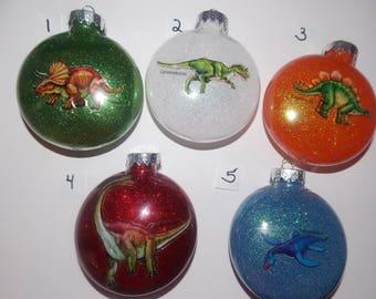 Glitter Dinosaur Ornaments