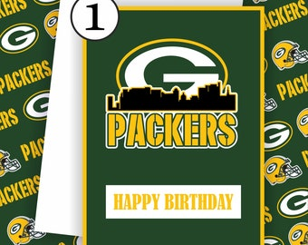 Green Bay Packers Card - Green Bay Fan, Football Team Card,Green Bay Packers, Football Greeting Card