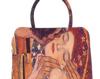 Bag faux leather Klimt-the kiss