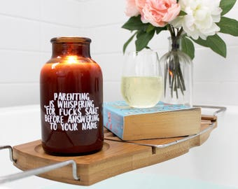 Personalised Candle, Mothers Day Candle, Amber Candle, Gift for her, New mum gift, Baby shower, anniversary, Bridesmaids gift
