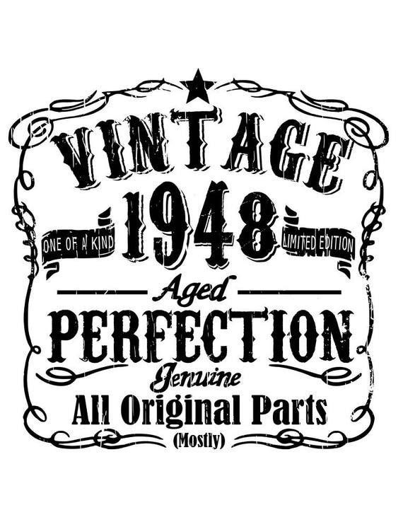 Vintage Birthday 1948 1958 1968 1978 1988 All Included