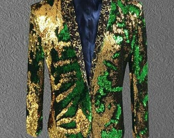 Gold and Green reversible jacket for Ekaj