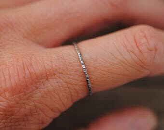 Rough Stacking Ring | Sterling Silver