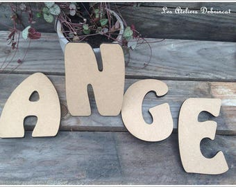 Letter height 12 cm thickness 6mm wood initials