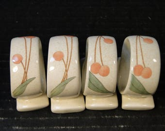 FOUR Mikasa Fruit Panorama Napkin Holders DC014 Set of 4 EXCELLENT!
