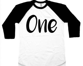 One Birthday Raglan One Birthday Shirt Fun Birthday Shirt Boy birthday Girl Birthday First Birthday Shirt 1st Birthday I'm This Many