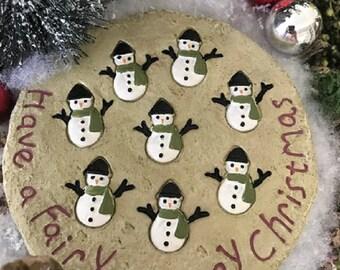 Miniature Snowman Merry Christmas Patio