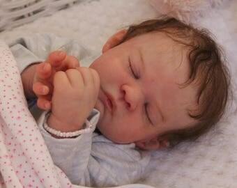 "18"" Mia Sleeping Realistic Reborn OOAK Baby Doll"