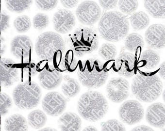 Hallmark Inspired Svg | Card Logo | Free Hallmark Font Included | With Hallmark Channel Logo Cut File | .Svg .Dxf .Png |