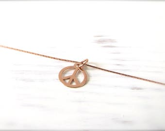 Peace | Necklace | Rosé gold