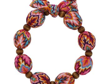 Cooling Necklace - Coral/Turquoise