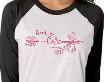 Breast Cancer Awareness shirt, Breast Cancer shirt, Find a cure shirt, Believe in Pink shirt, Pink shirt, October shirt