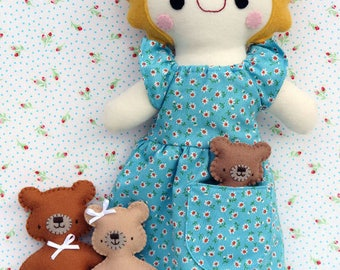 Goldilocks and the Three Bears Pattern by Two Brown Birds