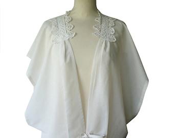 Poncho tunic asymmetric sleeve Ysée white