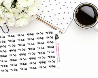 "Planner Stickers|Script Words for Planners and Journals|""To Call"" in script for your planner/journalWord Stickers