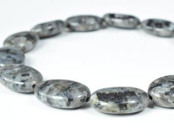 13x18mm Oval Smooth Black Labrodite Gemstone Beads, natural stone,healing stone,chakra stones,gemstone,raw stone,stone beads,loose gemstone,