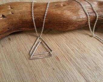 """Pendant / / """"Triangles"""" Silver 925"""