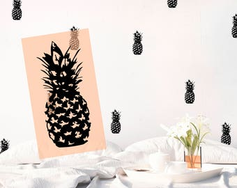 Wall decal Pineapple Vinyl Stickers Black and White