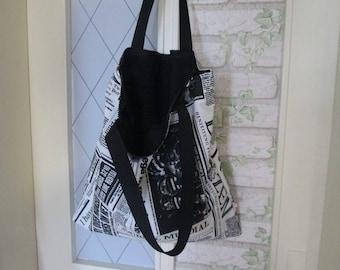 Pocket zipper black newspaper long handle