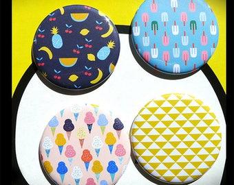Set of 4 magnets 56 mms 'Tutti Frutti'