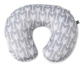 Arrow Nursing Pillow Cover (Plush Minky Fabric)    Slip Cover   Gender Neutral Slipcover for Infant Nursing Pillows