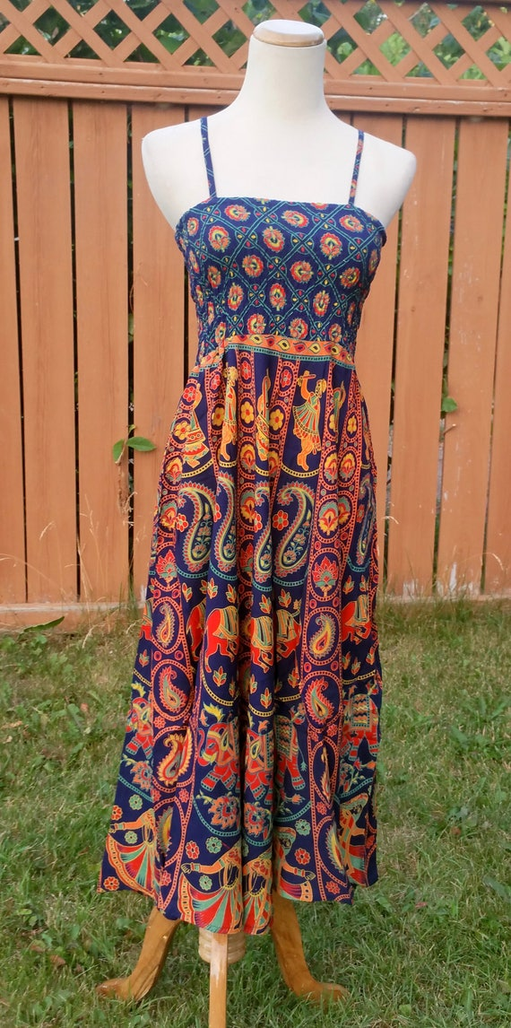 Spaghetti dress, spaghetti strap gown, summer loose dress, gypsy dresses boho, gypsy short dress, Xmas gift for her, knee length dresses