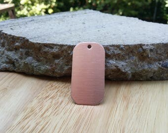 12 Pure Copper Dog Tag Blanks Polished or Raw 18 Gauge
