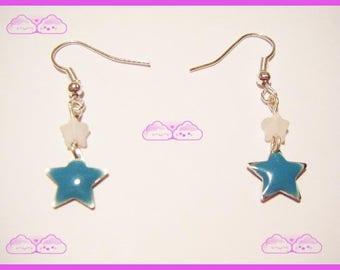 ♥ Earrings stars Mint Green ♥