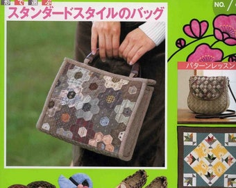 Pachwork Japanese sewing book Quilt bag Japanese quilt books Sewing bag pattern Patchwork applique Bags patchwork Patchwork quilt pdf