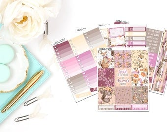 Fall Woodland Collection-Erin Condren Horizontal Planner Stickers