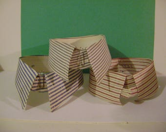 Vintage Stripped Stiff and Soft Mens' Collars