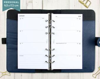 """2018 calendar """"Rows"""" - staff"""