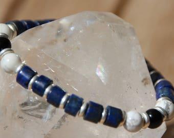 lapis lazuli heishi Beads Bracelet