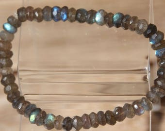 labradorite bracelet faceted beads