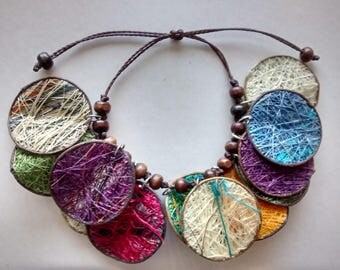 COLOMBIAN BRACELET. Hand woven bracelet