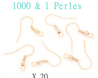 Supports for x 20 pink gold color earrings