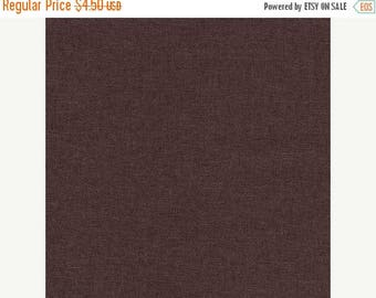 """20% Off Espresso Brown Linen & Rayon 55/45 Blend Woven Fabric for Dresses and Sportswear by Robert Kaufman Brussels Washer 52"""" Wide Half Yar"""
