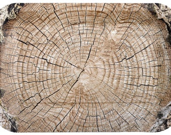 Cut Timber Rectangle Plates 4 Pack